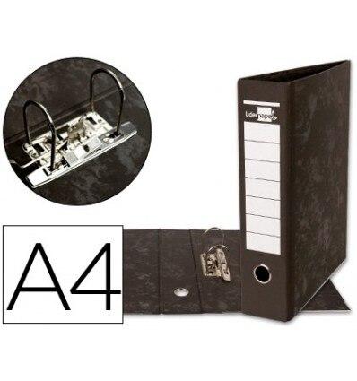 LEVER ARCH FILE LEADERPAPER A4 CARTON LINED WITHOUT RADO LOMO 80MM BLACK COMPRESSOR METAL 5 Pcs