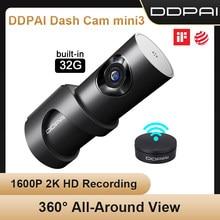Originele Ddpai Dash Cam Mini 3 1600P Hd Auto Camera Mini3 Auto Drive Voertuig Video Recroder 2K Android wifi 24H Parking Camera