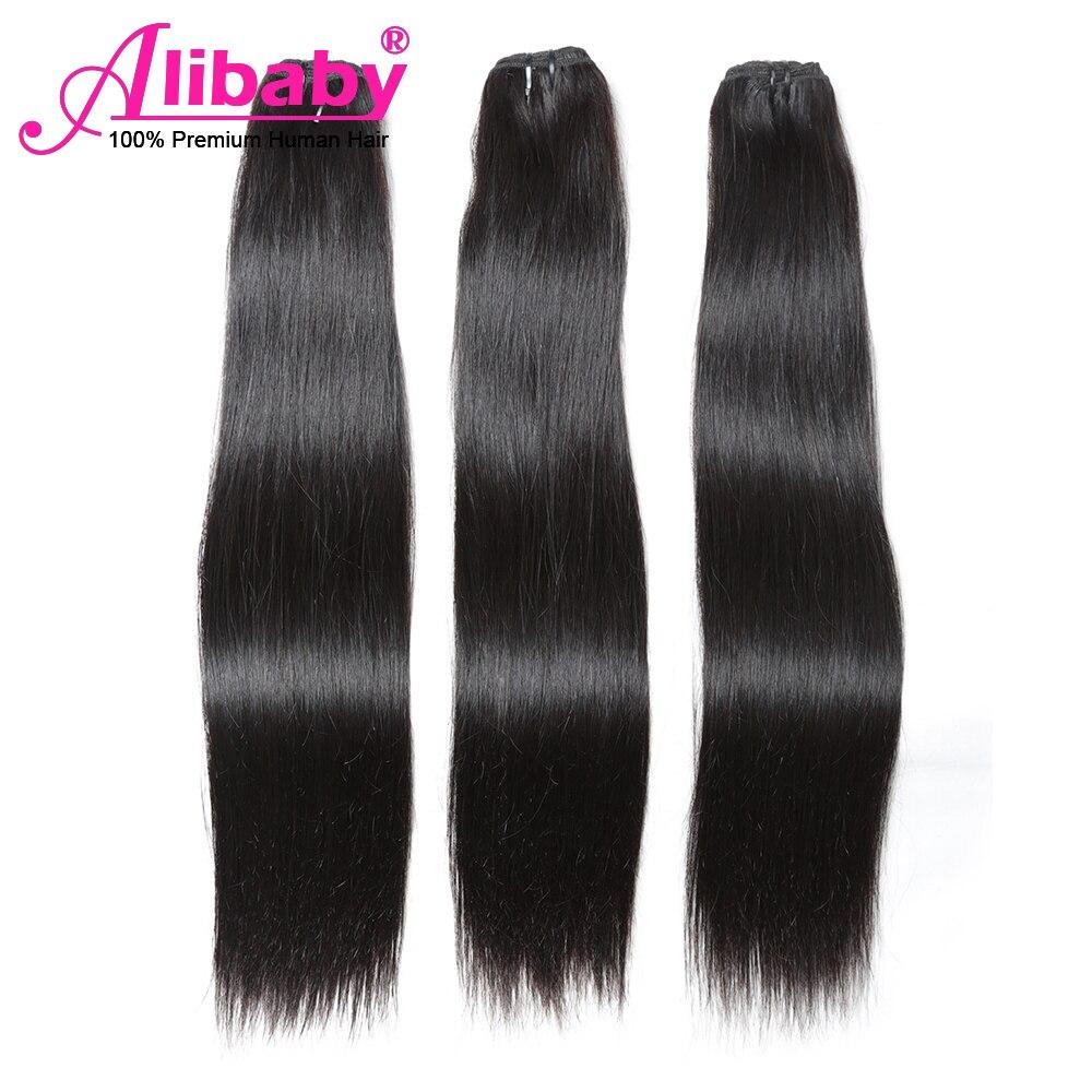 Alibaby Super Double Drawn  Bundles  Straight Virgin Hair  Bundles Natural Color Hair For Top Customer 2