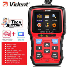 Vident iEasy310 強化 OBDII/EOBD + Can コードリーダーバッテリーテスト機能(China)