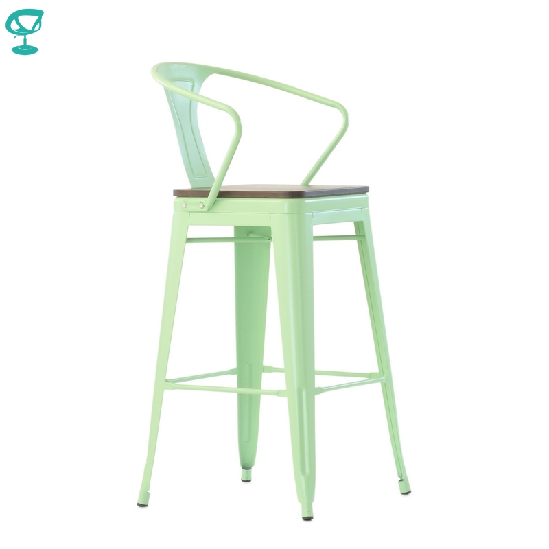 N244RAL Barneo N-244 High Metal Kitchen Breakfast Interior Stool Bar Chair Kitchen Furniture 14 Colors Free Shipping In Russia
