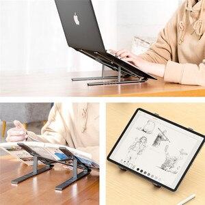 Image 5 - LINGCHEN Supporto Laptop Per MacBook Pro Supporto Per Notebook Pieghevole In Lega di Alluminio Supporti Tablet Staffa di Supporto Del Computer Portatile Per Notebook