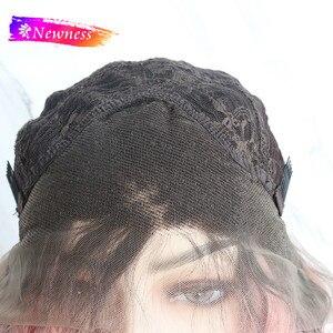 Image 5 - Newness الجزء الأوسط 13x4 الاصطناعية الدانتيل الباروكات للنساء طويل براون اللون #8 باروكة شعر مستقيمة مقاومة للحرارة الباروكات