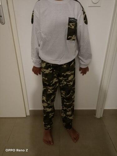 Teen Kids Clothes Baby Boys Costume Letter Tracksuit Camouflage Tops Pants 2PCS Children Boy Winter Outfits Set roupainfantil photo review