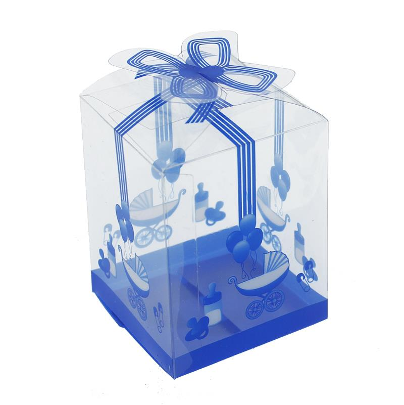 25 Pieces 5x7cm Baby-Stroller Pattern Acetate Gift Box
