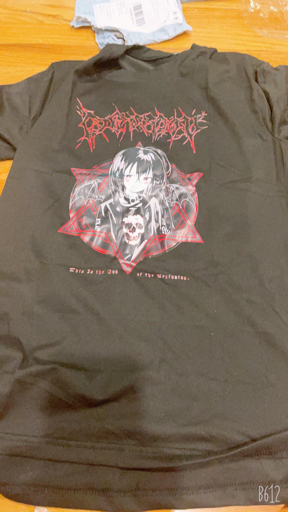 harajuku T Shirt Aesthetic Gothic Punk cartoon Short Sleeve O-Neck Tops Women  summer loose oversize street clothes photo review