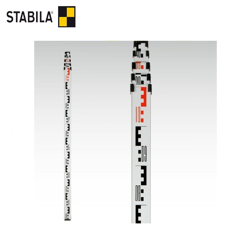 STABILA Leveling rail, telescopic TNL (500 cm) Quick and easy reading of deviations Determination of height