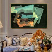 Affiche de peinture sur toile de vieux maître espagnol, vue de l'autre côté de la baie, imprimée pour décor mural de chambre