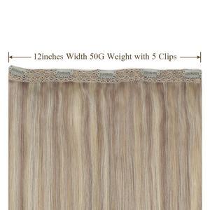 [Новое поступление] волосы для наращивания на заколках, 1 шт., человеческие волосы Remy, 14-24 дюйма, 1 шт., волосы на заколках, 50 г, 3/4, волосы на всю г...