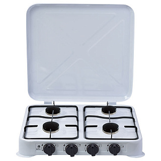 Gas stove Table 4 burner Vasilisa гп4 2100а with lid (gas equipment) Hot Plates     - title=