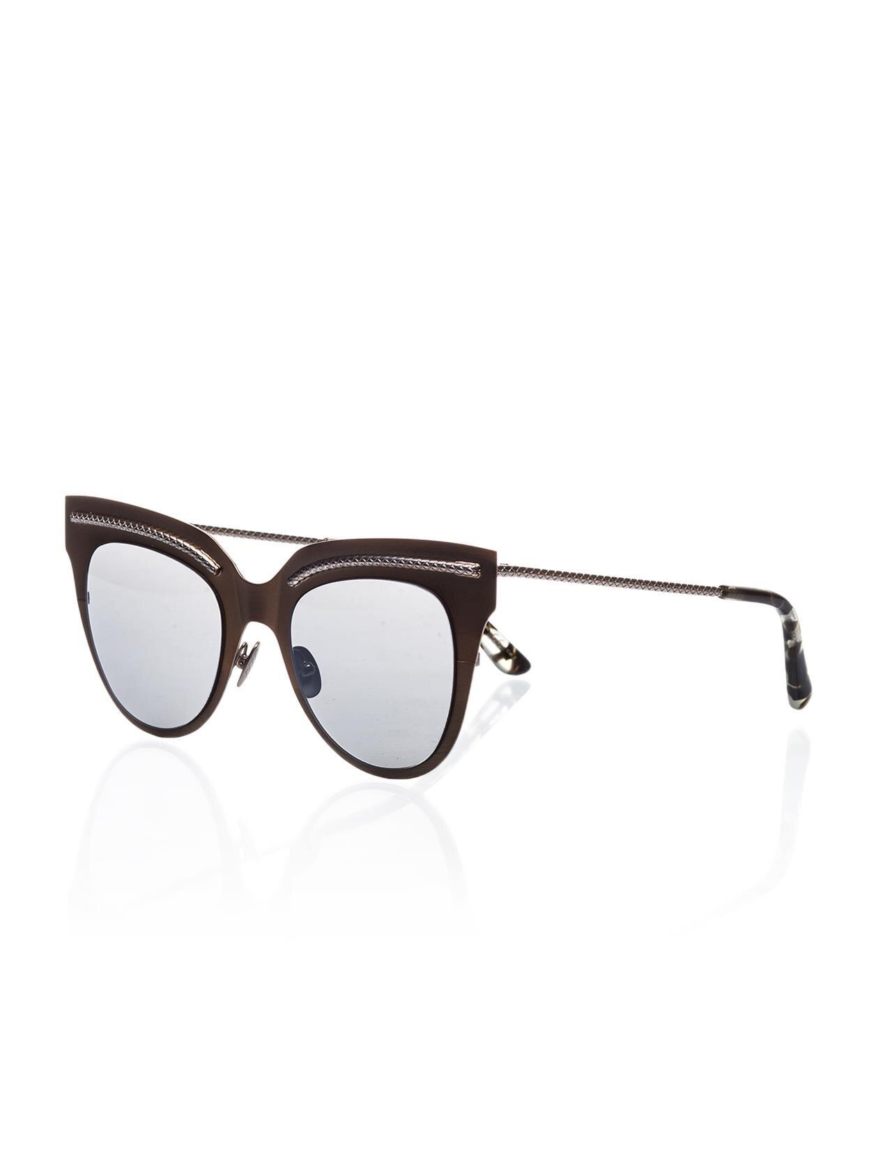 Women's sunglasses b.v 0029s 003 metal copper organic oval cat eye 50-22-140 bottega veneta