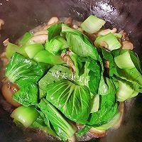 快手鲜美的素菜——鸡汁香菇青菜+太太乐鲜鸡汁芝麻香油的做法图解9