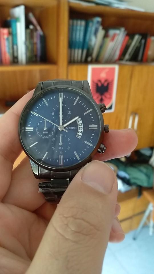 Luxury Men Quartz Watch Men Stainless Steel Gold Calendar Date Wristwatch Male Clock Relogio Direct photo review