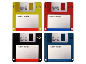 Floppy Disk Coaster   8 pcs Mats & Pads     -