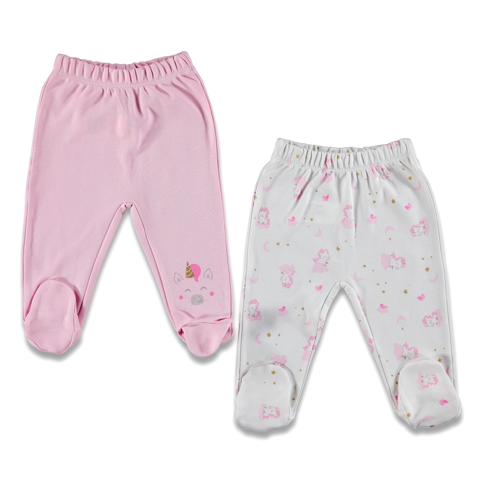Ebebek Fisher Price Magical Unicorn Baby Footed Trousers 2 Pack
