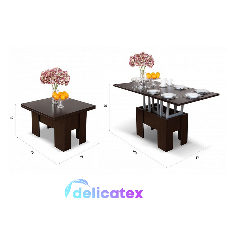 Table-Seattle Transformer Dlicatex Wenge, Coffee Dining Home Flats Garden