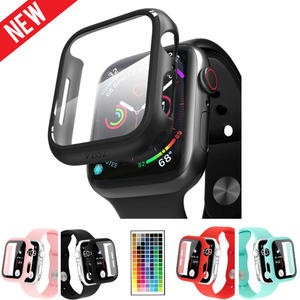 Case Screen-Protector Colorful-Cover Apple Watch Full-Protection-Shell 42MM 44MM 40MM
