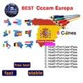 Oscam Europa Portugal Germany Cccam Europa Server HD Cline for 1 Year Europe Spain Portugal Poland Descodificador Satelite|Satellite TV Receiver| |  -