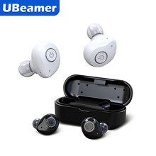 Ubeamer X6 TWS Benar Wireless Earphone Bluetooth Headphone dengan Pengisian Baterai Case Tahan Air Wireless Stereo Speaker Mini(China)