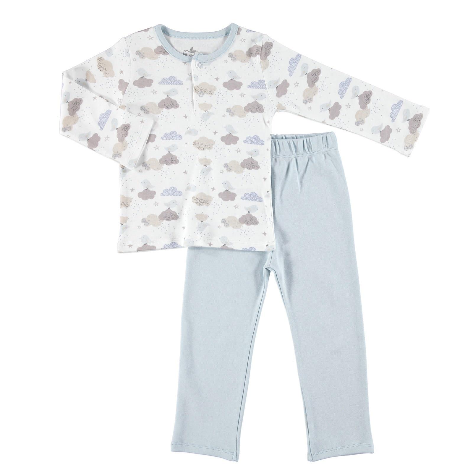 Ebebek Newborn Fashion Club Fun Winter Baby Sweatshirt Footless Pants