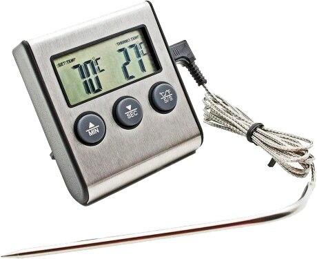 Termometre ile ses alarmı (moonshine, bira, pişirme, браги, et, стейка)