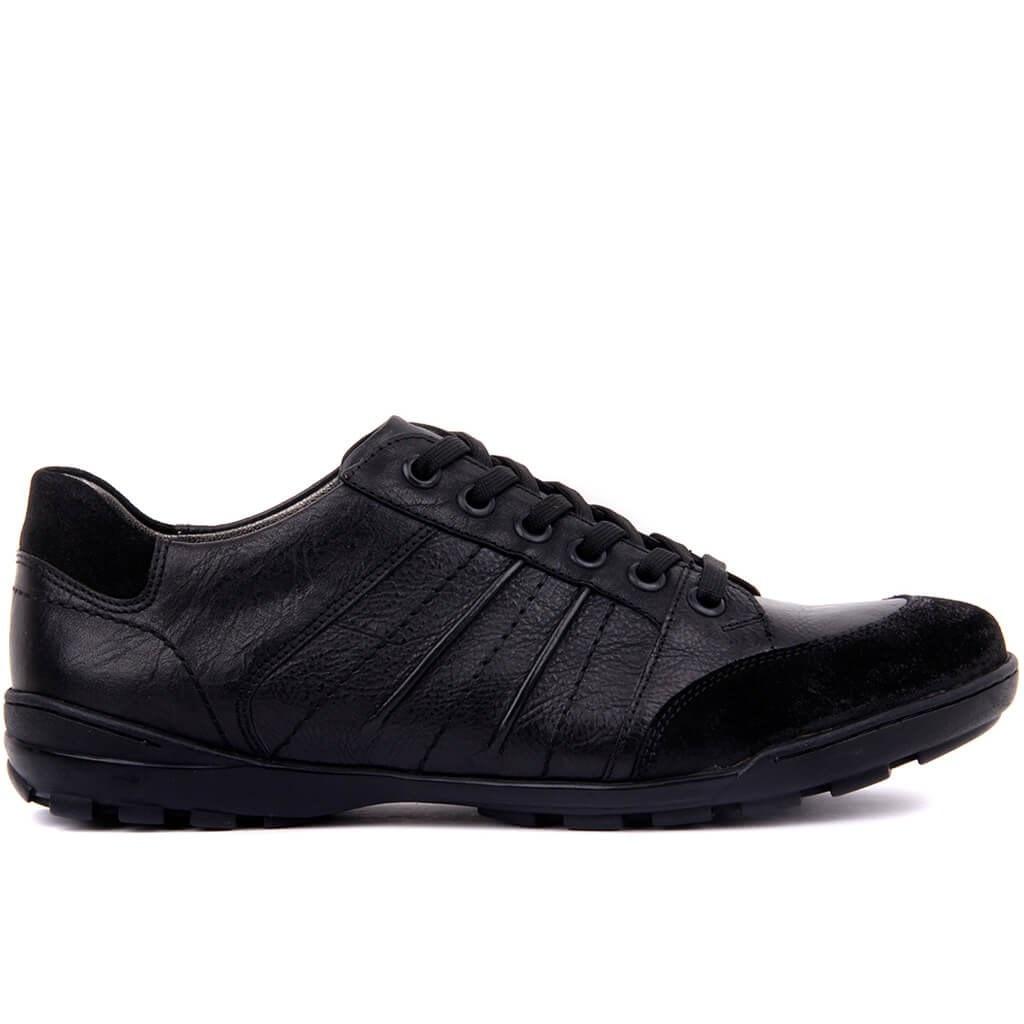 Sail-Lakers Black Leather Men 'S Shoes