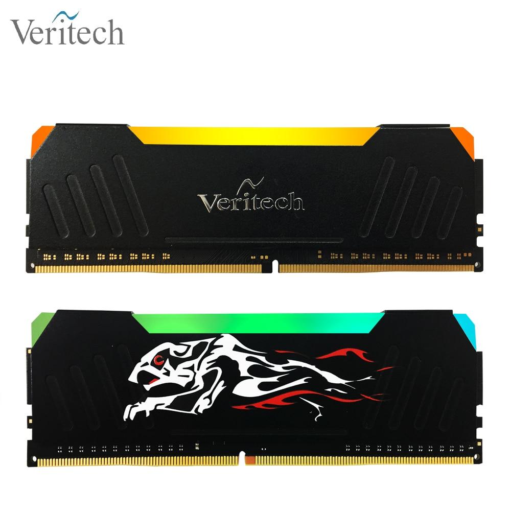 Veritech Ddr4 Pc4 Ram 8GB 3000MHz RGB CHEETAH DIMM Desktop Memory Support Motherboard 16GB 2400 2666Mhz 3200mhz 3600mhz 32g Ram