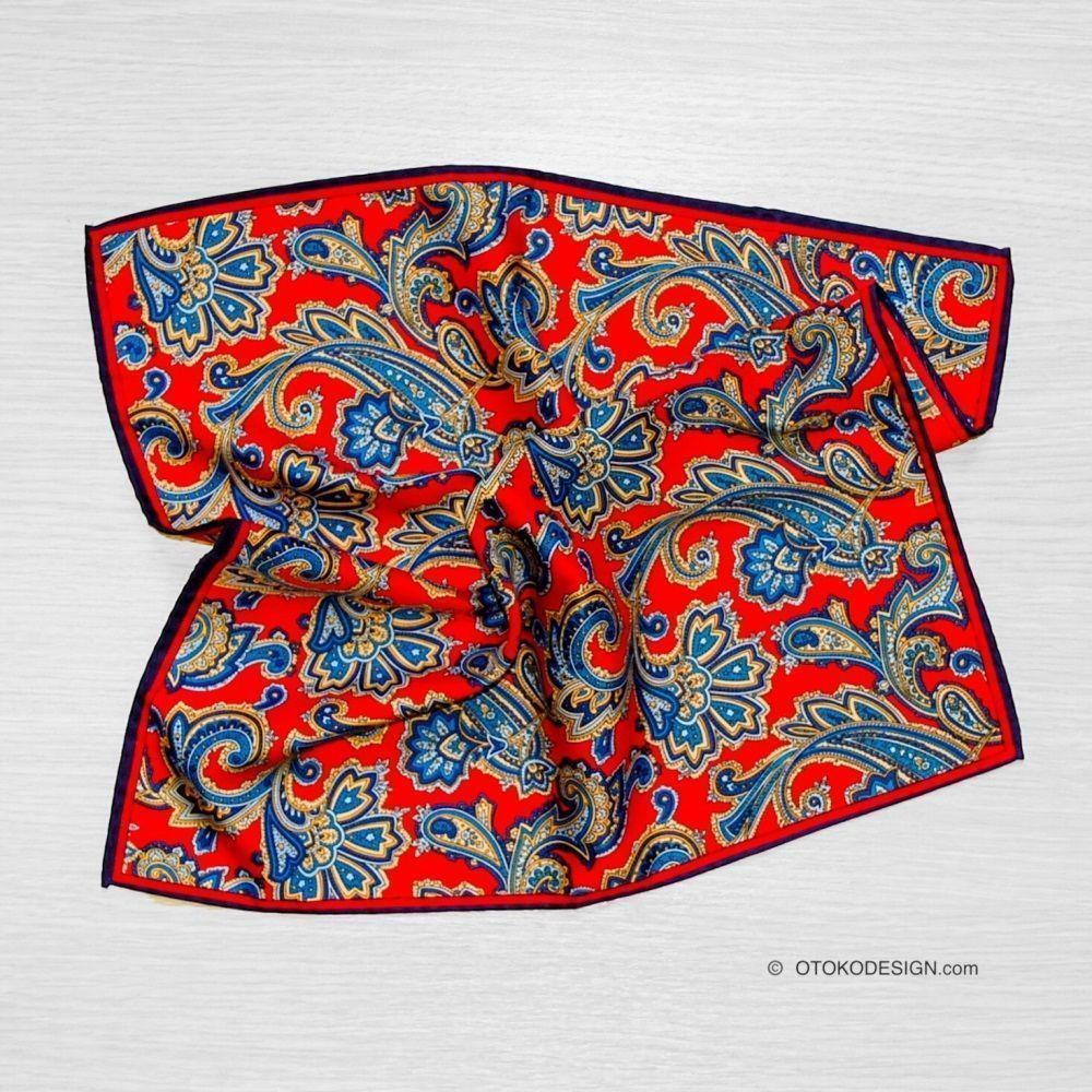 Silk Pocket Square Red (50931)