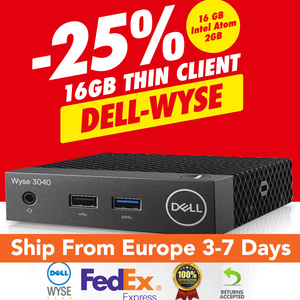 Fanless Mini PC Dell Wyse Thin Client Desktop SHIPPED FROM UK WITH FEDEX Quad-Core Dell Wyse 3040 OS 16GB/2GB 3 Year Warranty