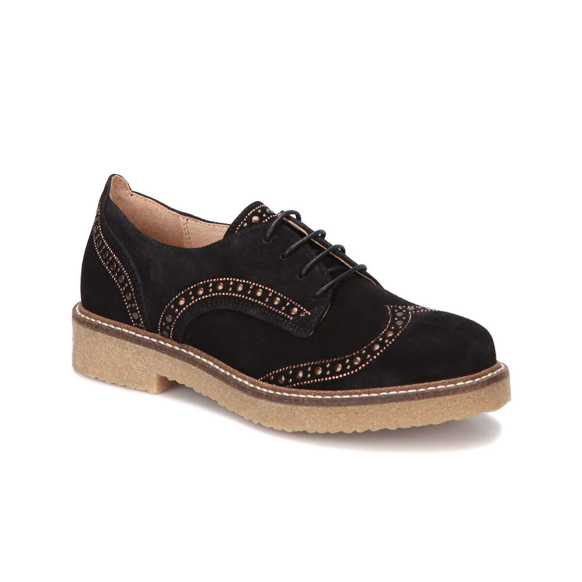FLO 28452 Black Women Oxford Shoes BUTIGO
