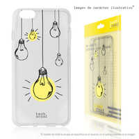 FunnyTech®Case Silicone cover for ZTE Blade V10 L Bulbs pendants transparent