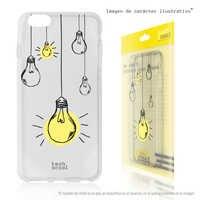 FunnyTech®Silicone Case for Motorola Moto C Plus L Bulbs pendants transparent