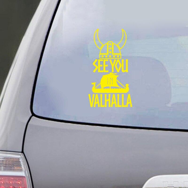 See You In Valhalla Car Decal Sticker Car Window Decor