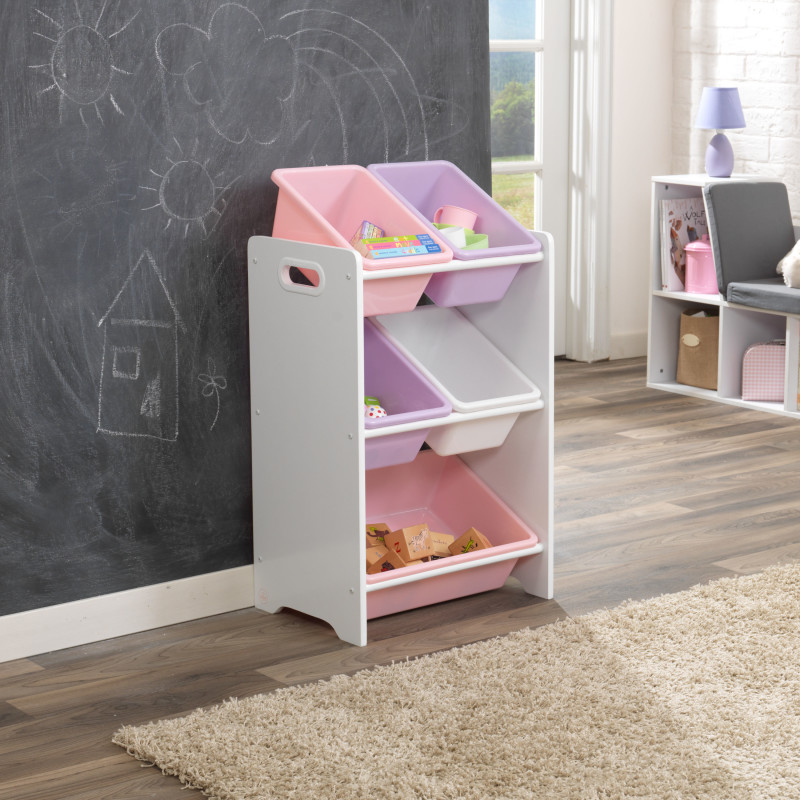 Children Cabinets KidKraft  Storage System With 5 Containers Pastel Children's Furniture For Kids Toy Rack Storage System Toy Box Dresser Toy Cabinet