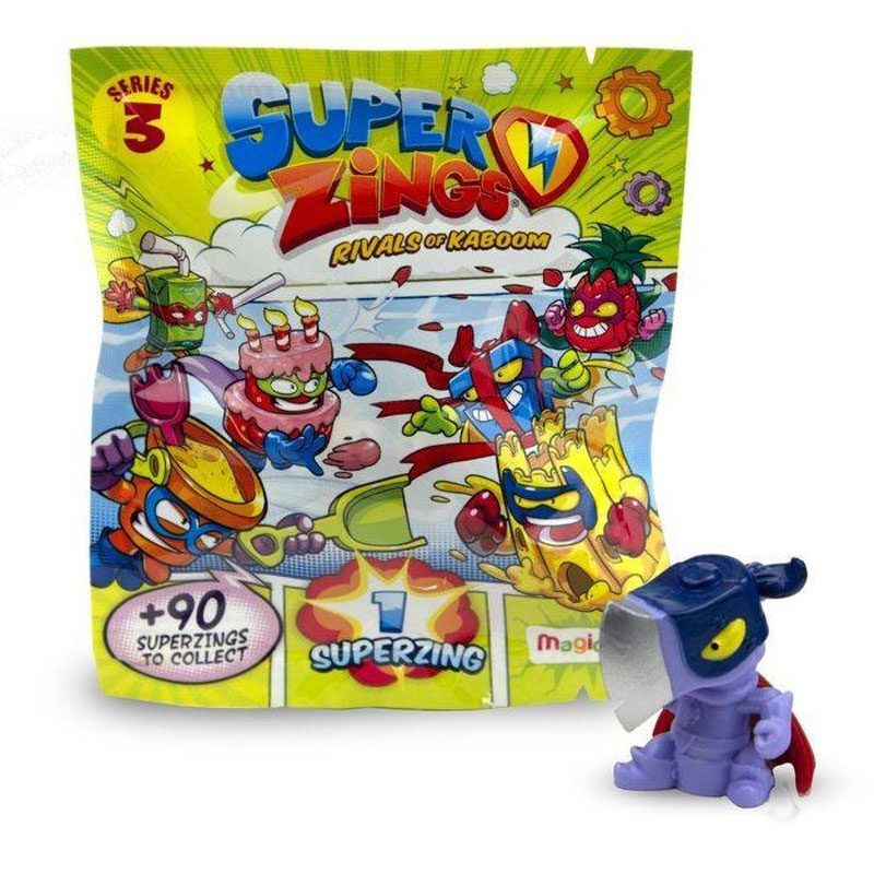 SUPERZINGS, SERIES 3 RIVALS OF KABOOM, Single Package, 1 Superzing