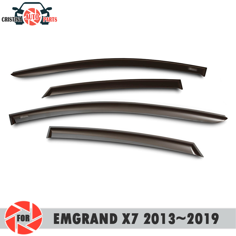Window deflector for <font><b>Geely</b></font> <font><b>Emgrand</b></font> <font><b>X7</b></font> 2013~<font><b>2019</b></font> rain deflector dirt protection car styling decoration accessories image