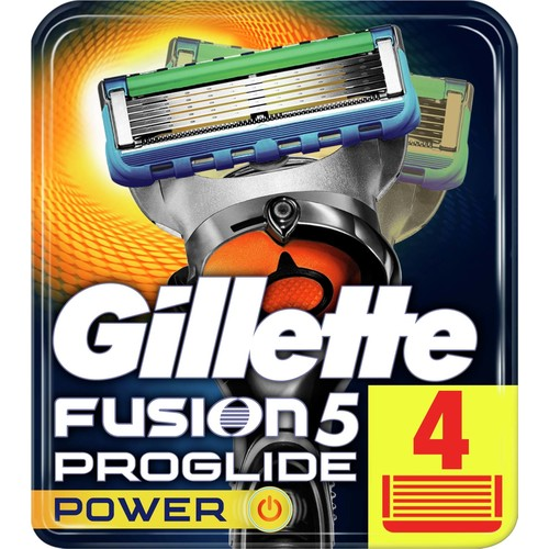 Gillette Fusion ProGlide Power 4'lü Replacement Shaving Knife