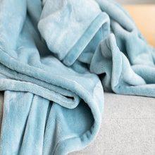 Couverture en flanelle à carreaux doux et chauds, couleur unie, rose, bleu, pour lit, canapé, couvre-lit, 230 g/m²