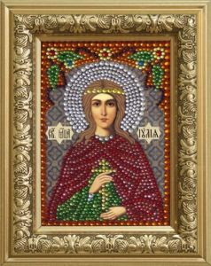 0309 set for laying out rhinestones 'Holy martyr Elijah (Julia) '10,5*14,8 cm
