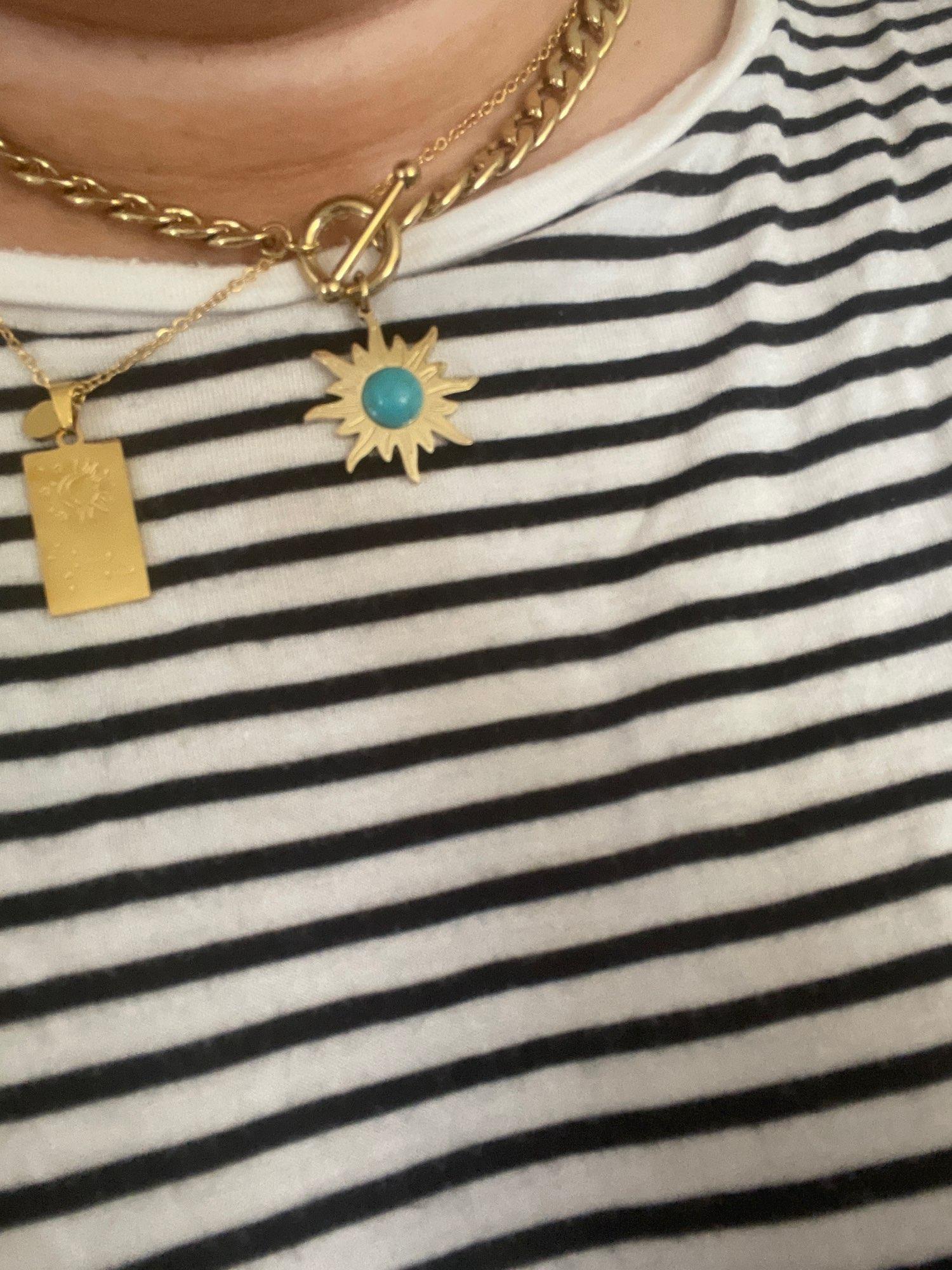 Collier Fleur Du Soleil (Acier) photo review