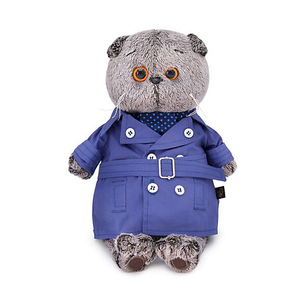 Clothes For Soft Toys Budi Basa Coat Dark Blue Tie For Bass, 19 Cm
