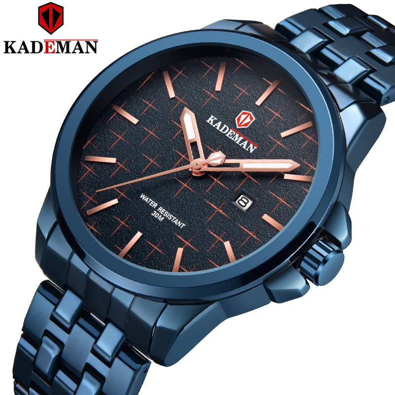 Kademan 2020 Fashion Cool Handsome And Adventurous Watch Men Life Waterproof Steel Strap Quartz Watch Mens K9098