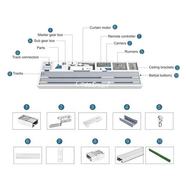 ZigBee-rideau intelligent pour téléphone   Rideau de commande dapplications, moteur Alexa, Google aide, réalisable