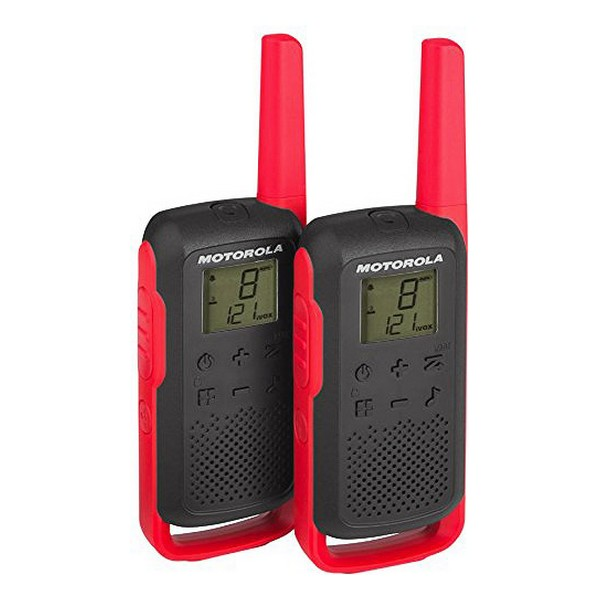 Walkie-Talkie Motorola T62 LCD 8 Km (2 Pcs) Black Red