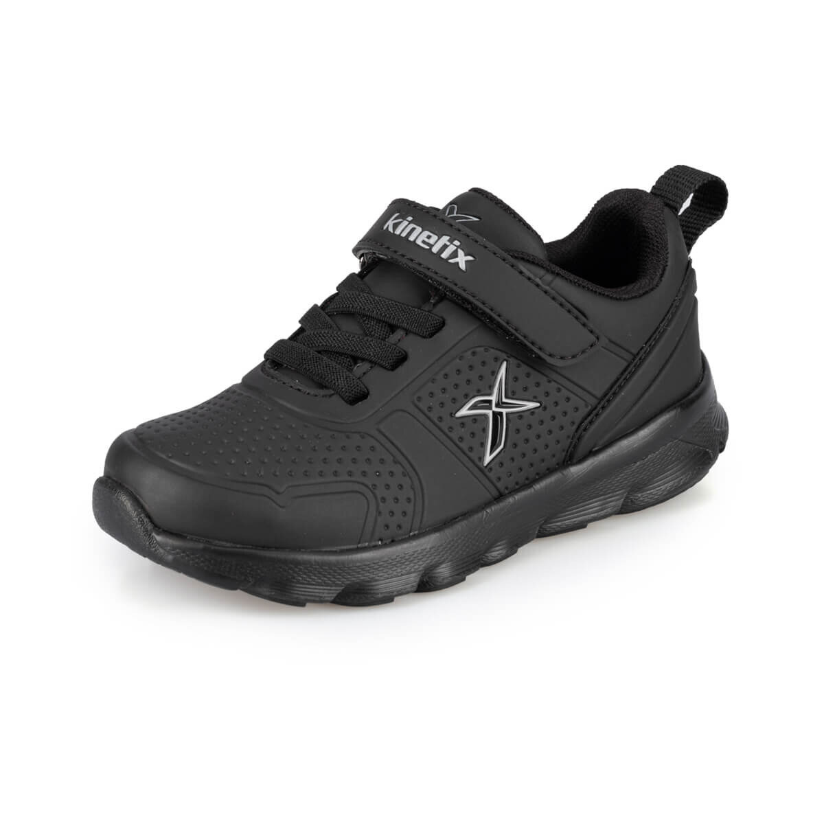 FLO ALMERA II J 9PR Black Male Child Running Shoes KINETIX