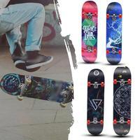 skateboard Two Bare Feet Double Kick Complete Skateboard Cruiser for Teens Beginners Kids Skate Colorful Skateboard Proffesiona
