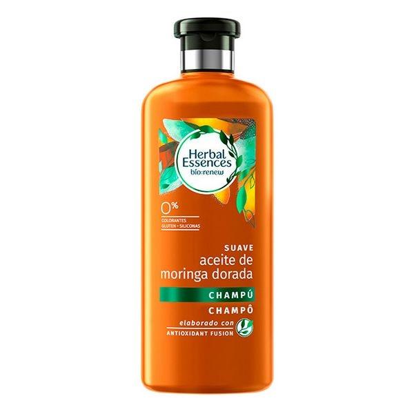 Shampoo Bio Suave Aceite De Moringa Dorada Herbal (400 Ml)