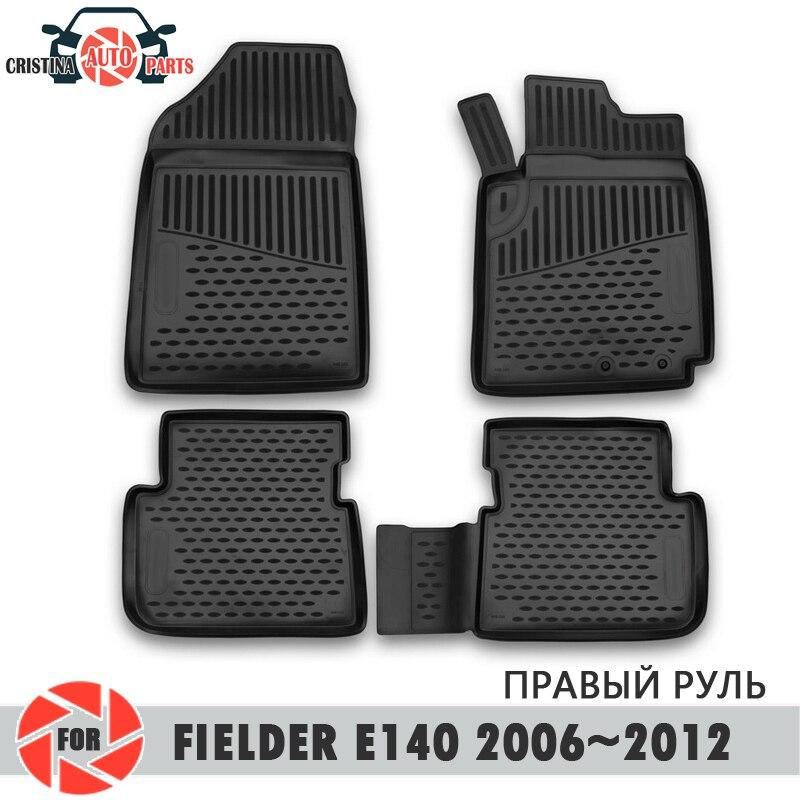 Boden matten für Toyota Fielder (E140) 2006 ~ 2012 rechtslenker teppiche non slip polyurethan schmutz schutz innen auto styling