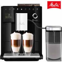 Cafetera automática Melitta CI Touch F630-102, con molinillo incorporado y muy silencioso, café en grano, pantalla táctil, negro