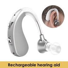 Audífono USB recargable para ancianos, amplificador de sonido, Ayuda de oído inalámbrico para personas mayores, pérdida auditiva leve, ayuda portátil